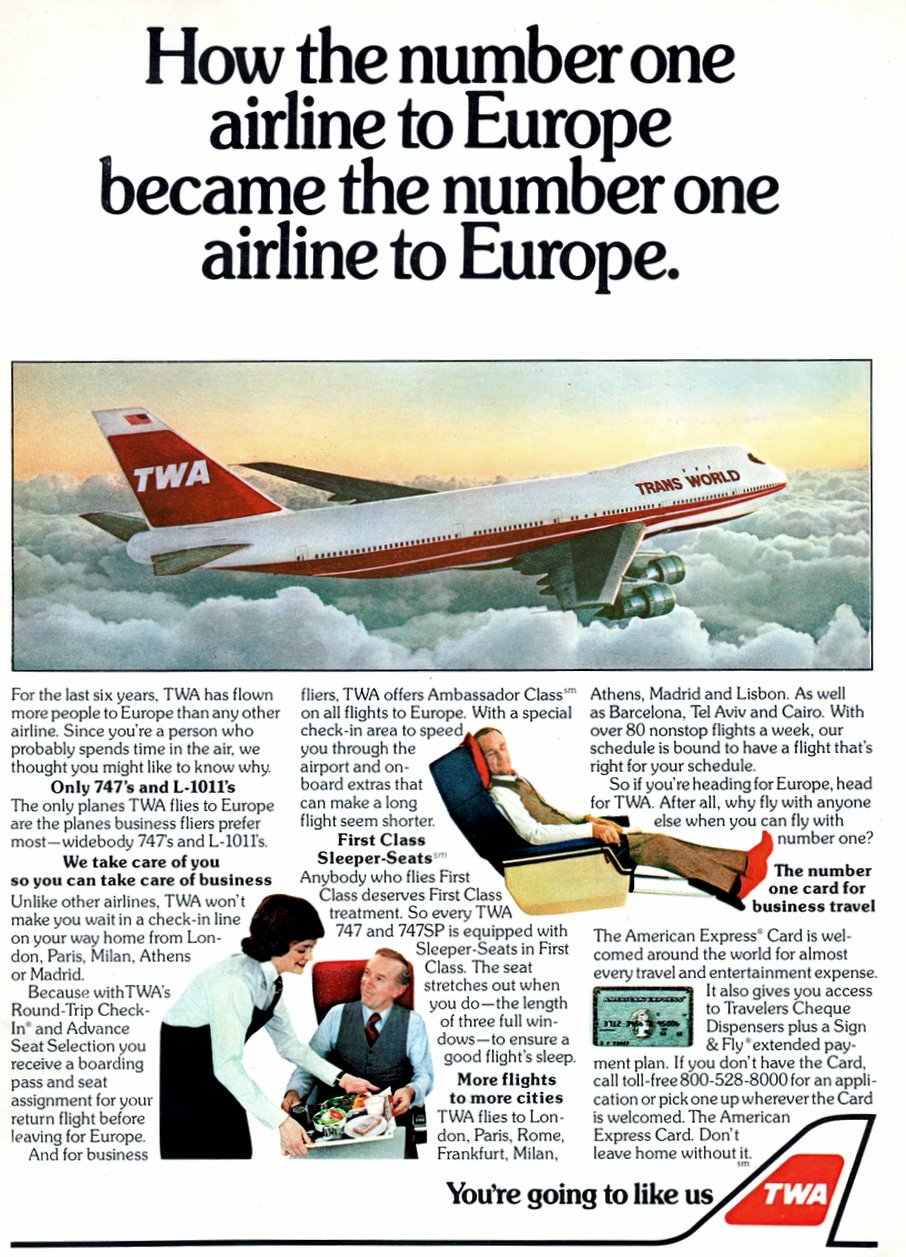 Vintage TWA 747s and L1011s