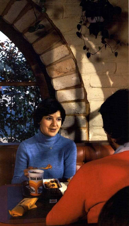 Vintage Taco Bell fast food restaurants in 1980