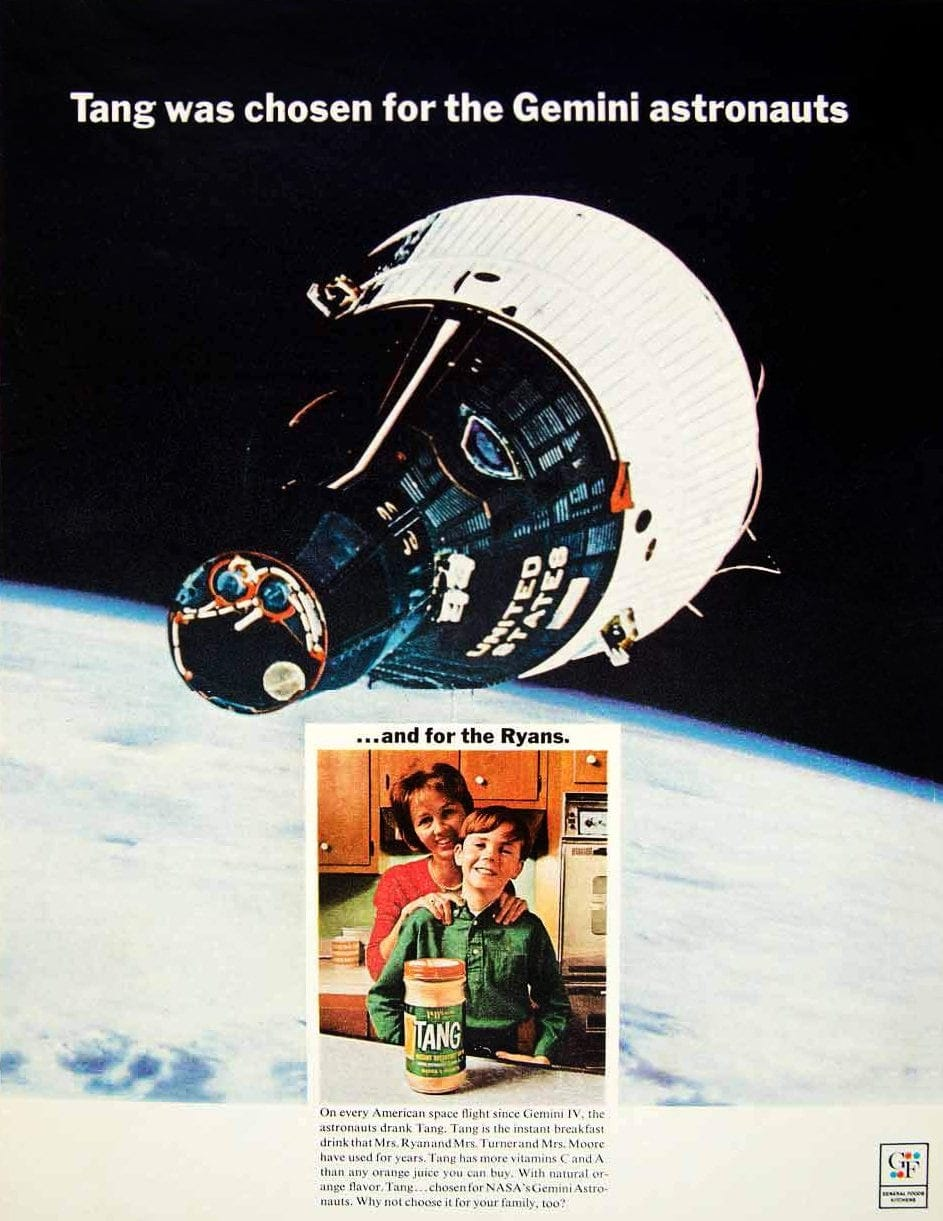 Vintage Tang ad - space 1960s