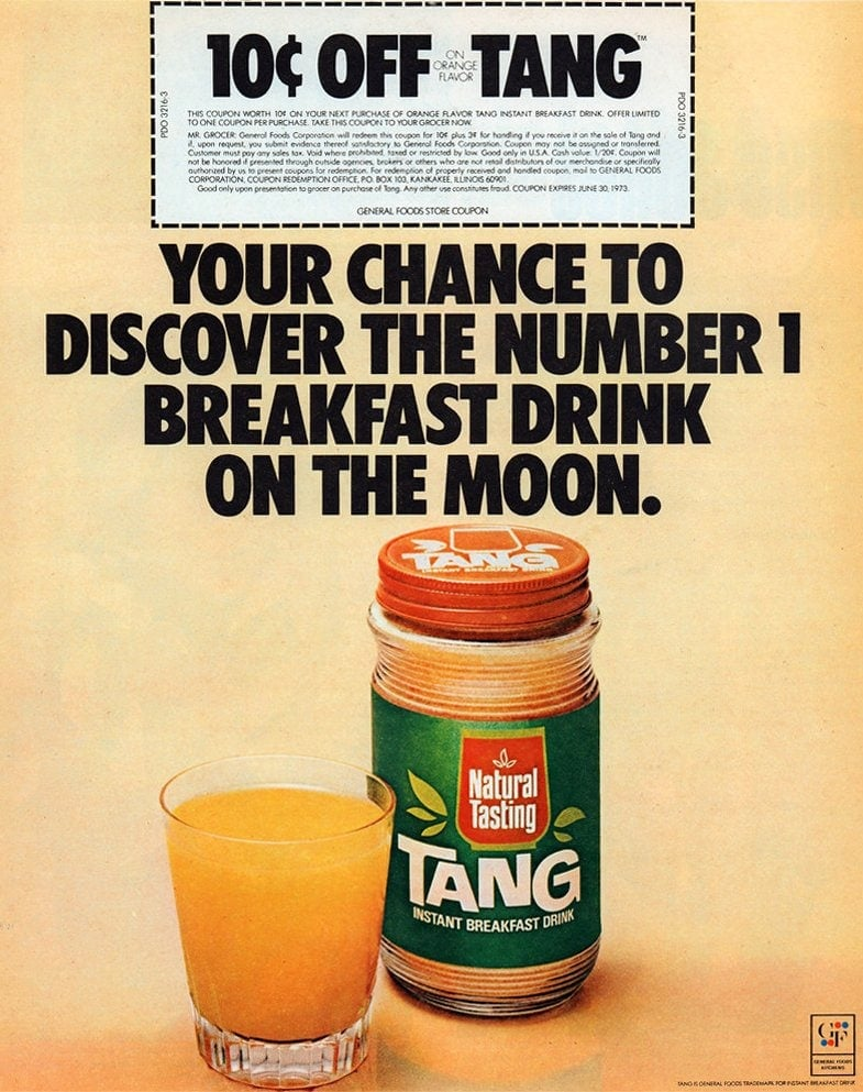 Vintage Tang drink mix from 1972