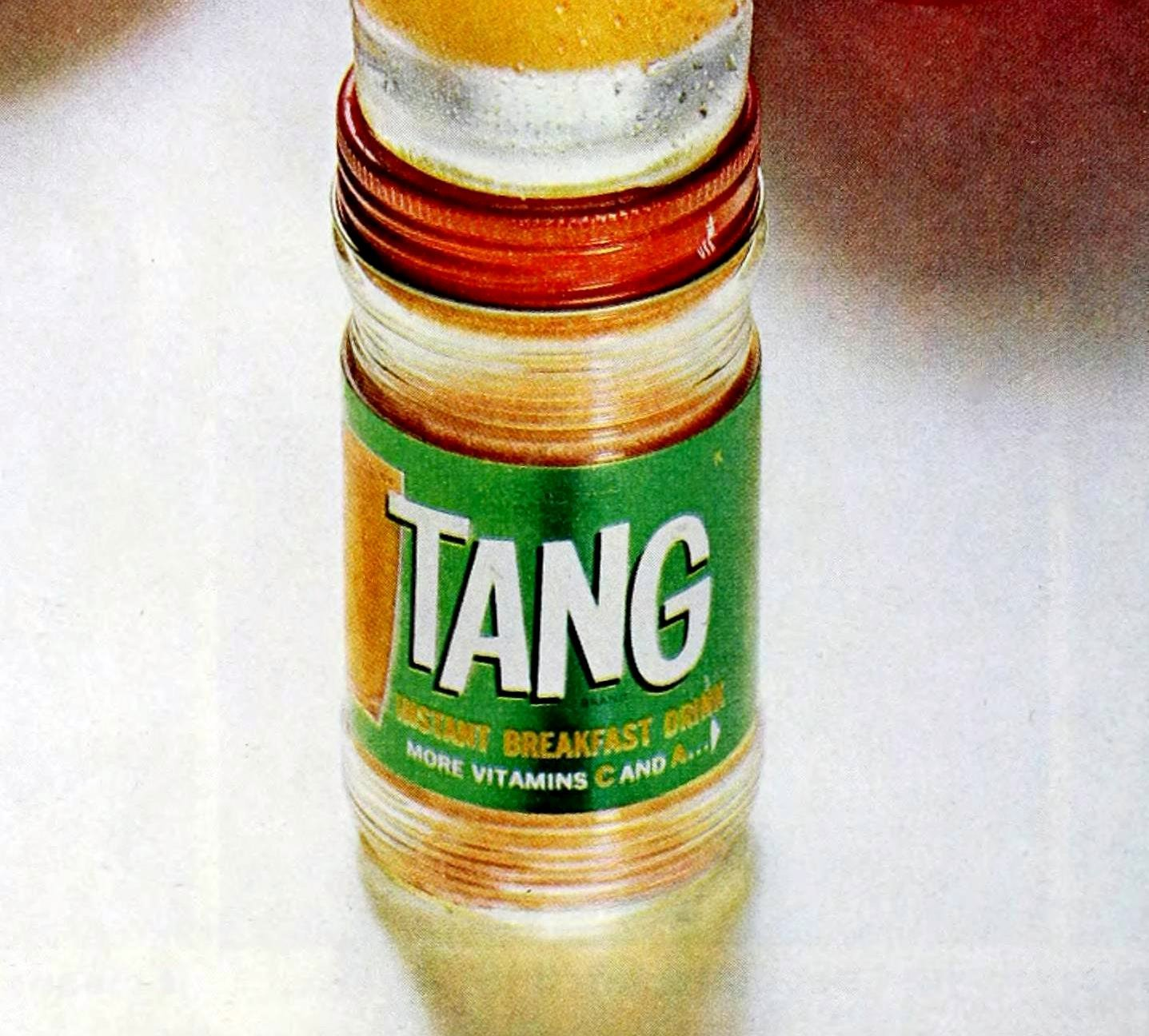 Vintage Tang drink mix in retro 1960s package