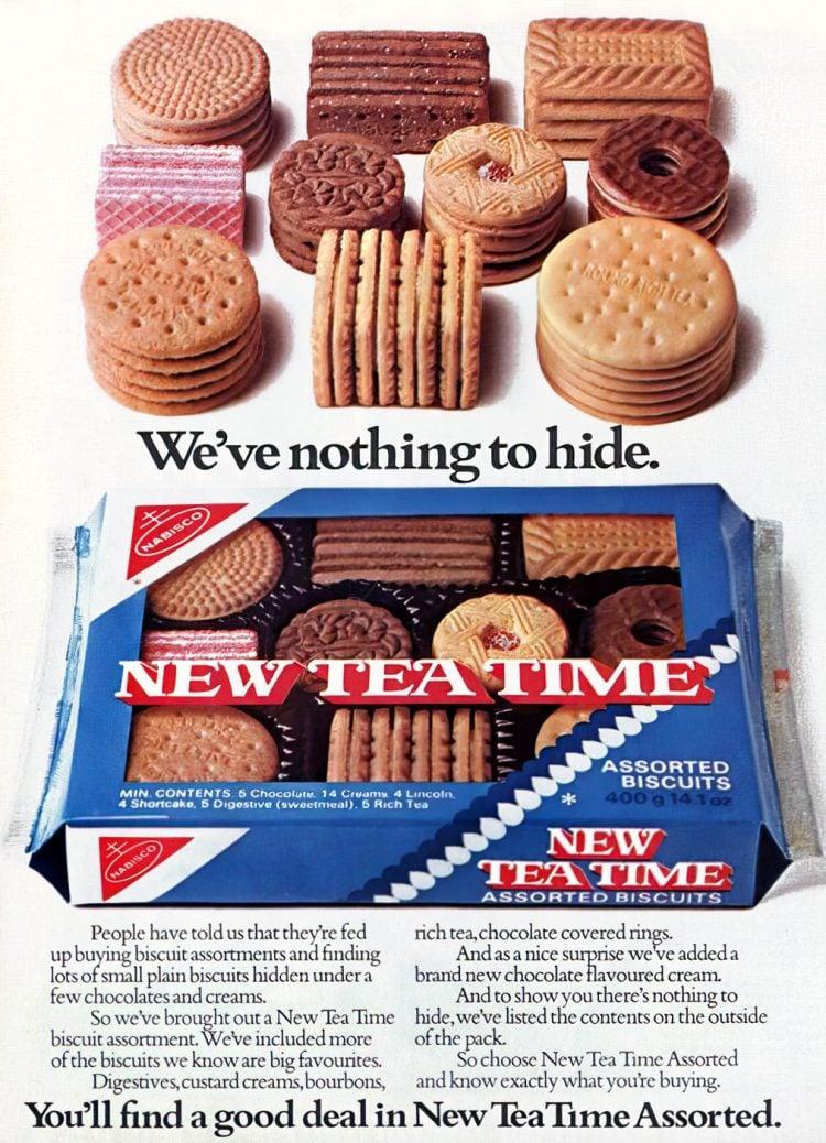 Vintage Tea Time assorted cookies (1976)