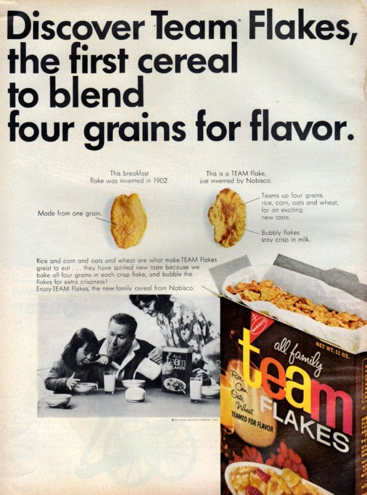 Vintage Team flakes ad from 1965