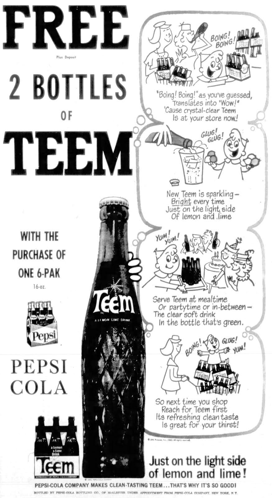Vintage Teem soda ad with Gerald McBoing-Boing (1963)