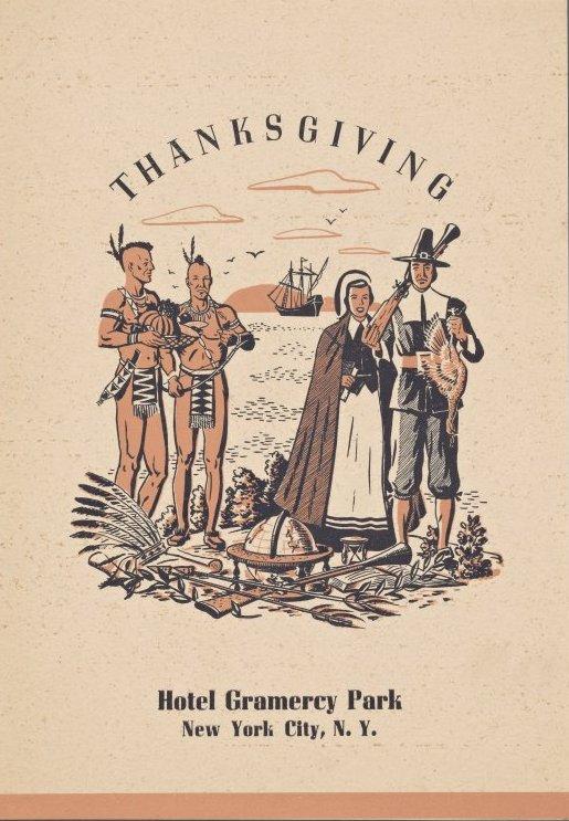 Vintage Thanksgiving dinner menu - Hotel Gramercy Park NYC