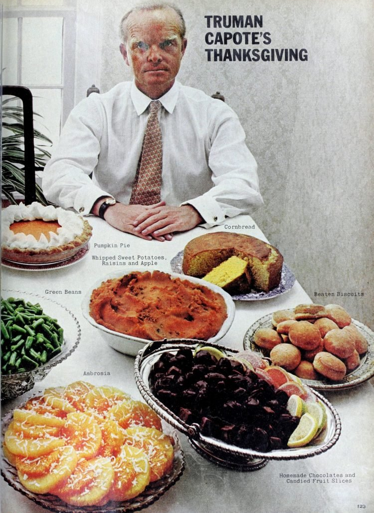 Vintage Thanksgiving recipes from Truman Capote 1968 (1)