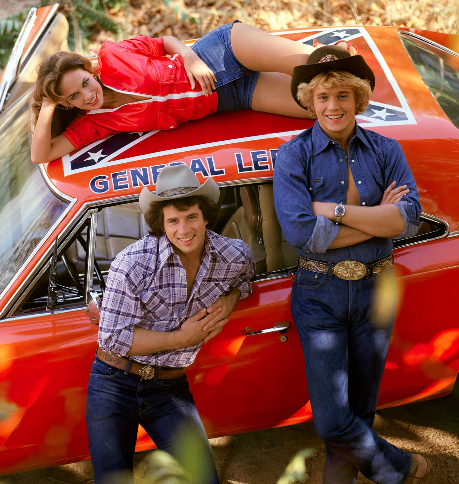 Vintage The Dukes of Hazzard TV show with the General Lee car