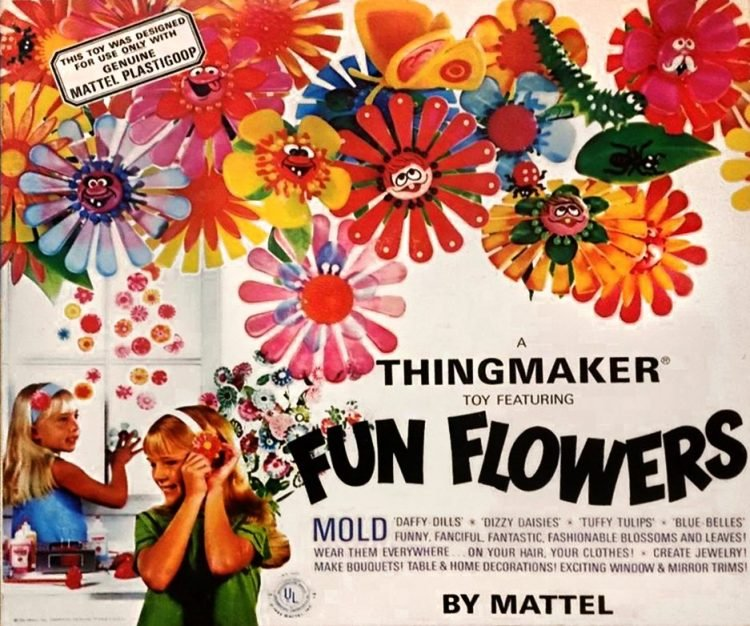 Vintage Thingmaker Fun Flowers toy box