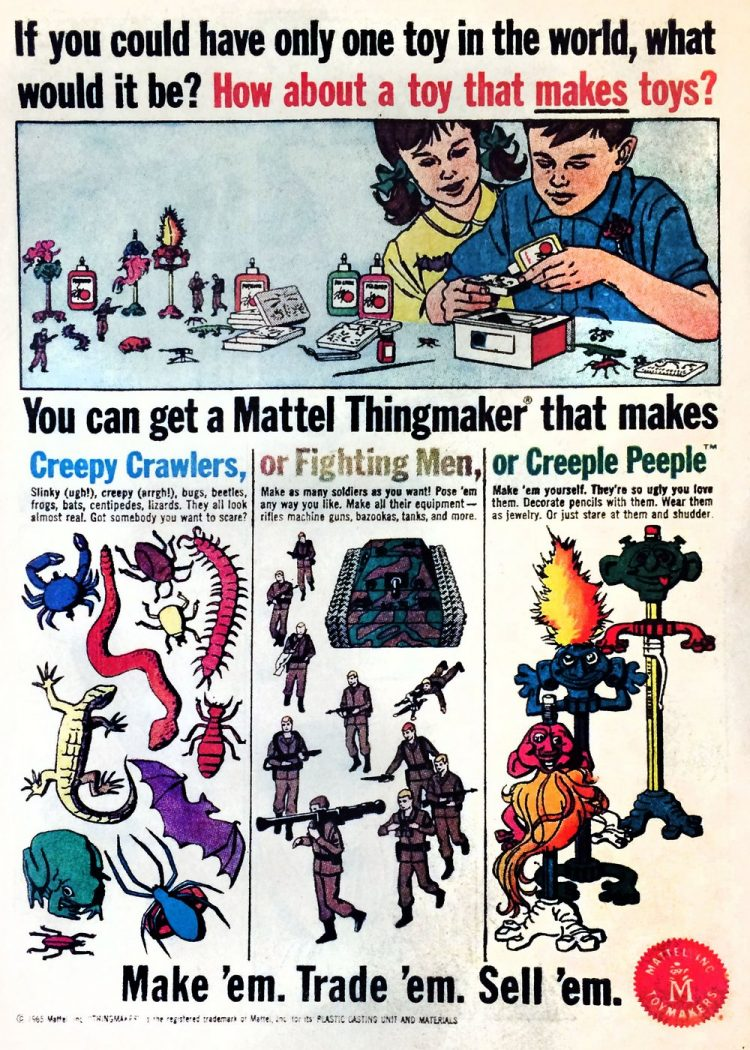 Vintage Thingmaker toys - Creepy Crawlers and mroe
