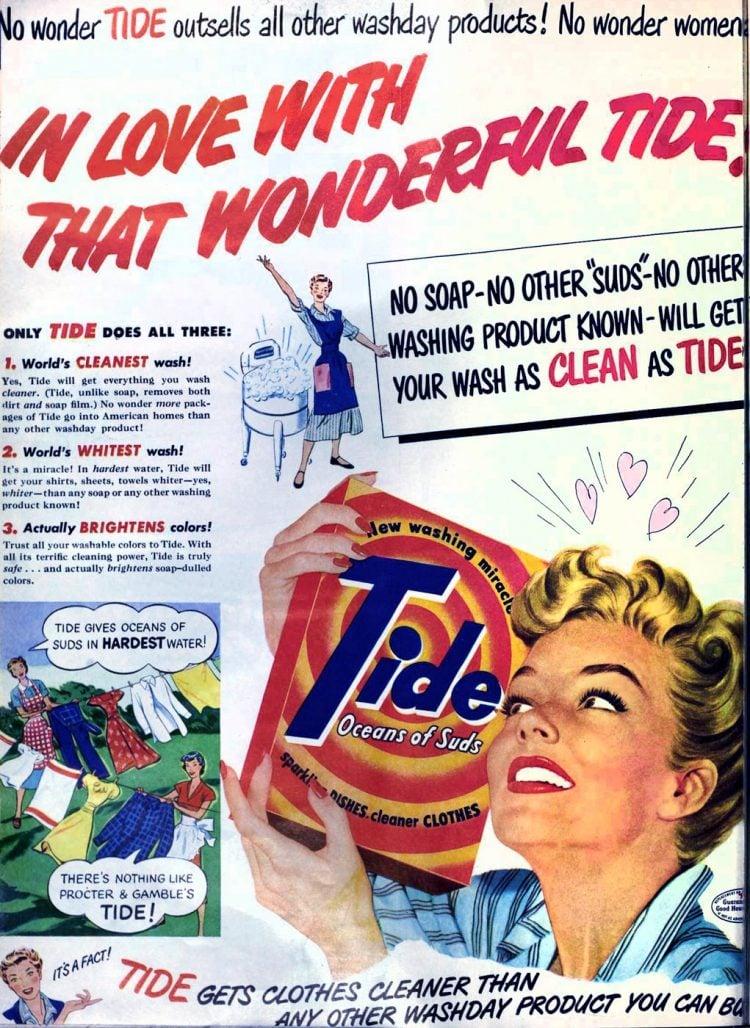 Vintage Tide laundry detergent - 1950 (1)