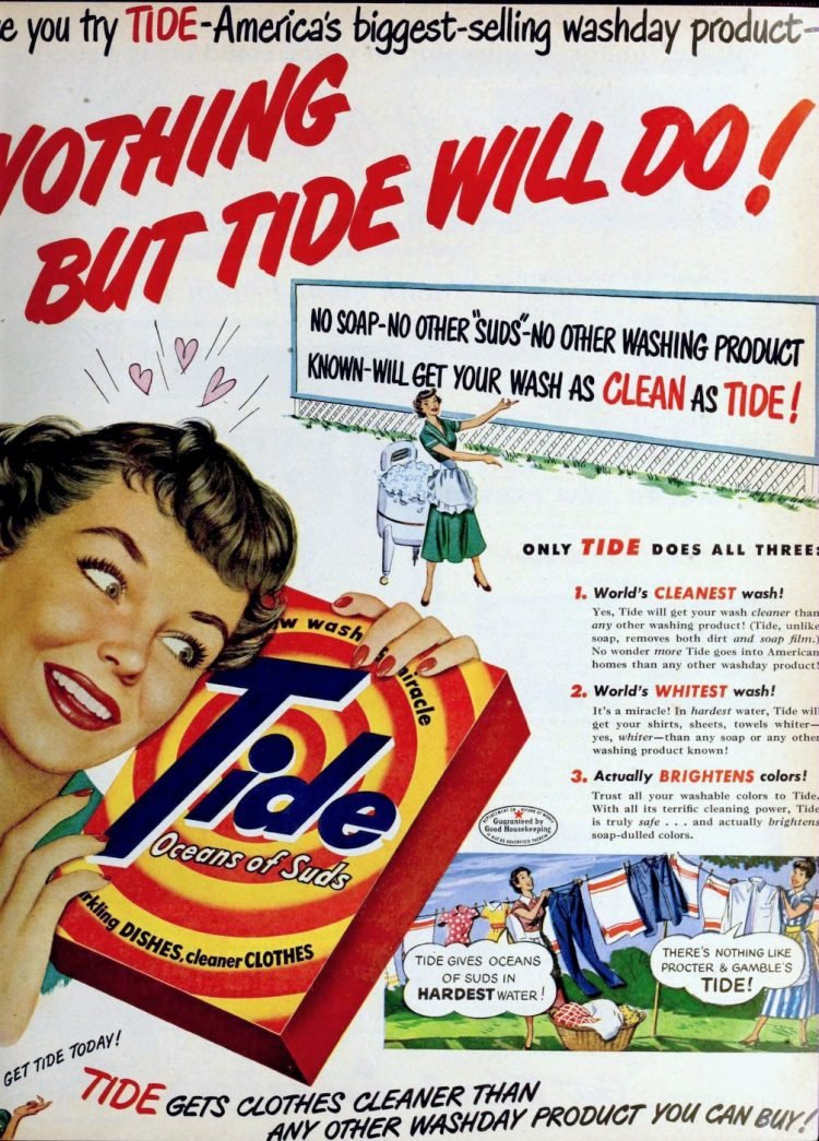 Vintage Tide laundry detergent - 1950 (2)