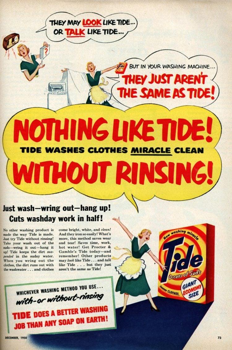 Vintage Tide laundry detergent - 1950 (3)