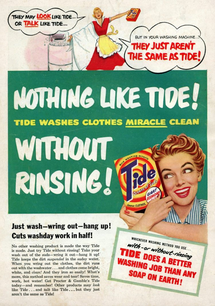 Vintage Tide laundry detergent - 1950 (4)