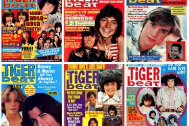 Vintage Tiger Beat magazines from the 70s