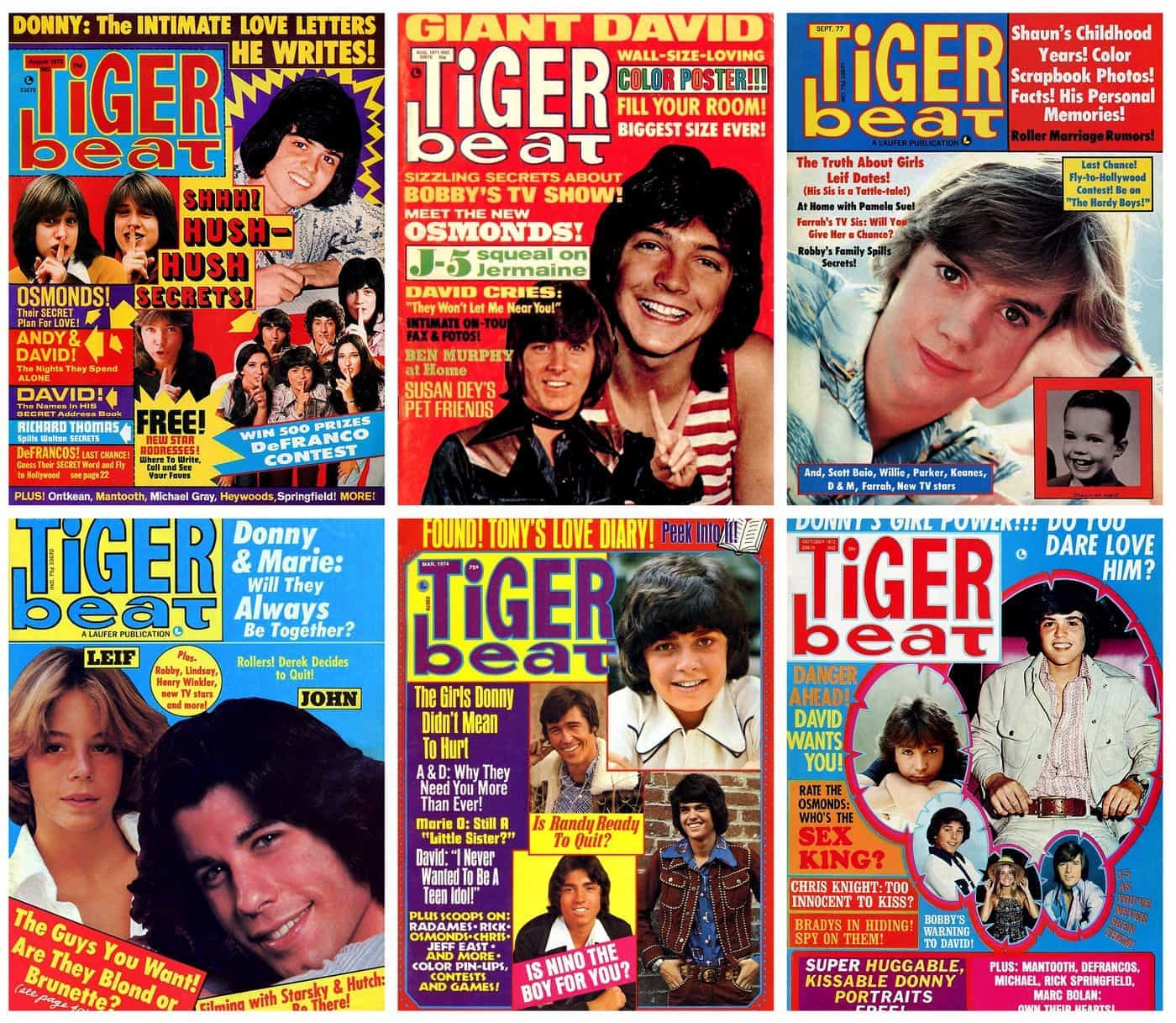 See The Top Stars On These Vintage Tiger Beat Magazine Covers From The 1970s And Relive All The Breathless Hype Click Americana