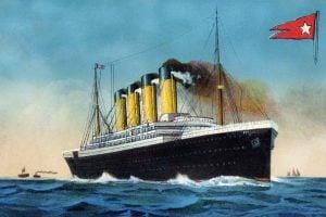 Vintage Titanic postcard