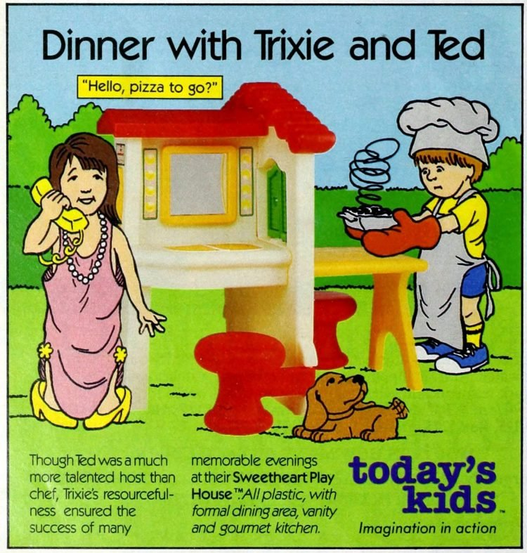 Vintage Today's Kids play kitchen from 1987