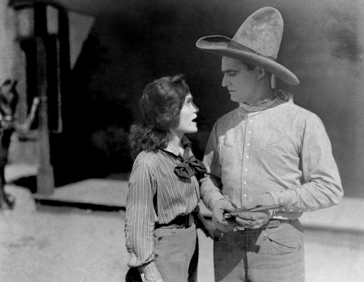 Vintage Tom Mix movie scene