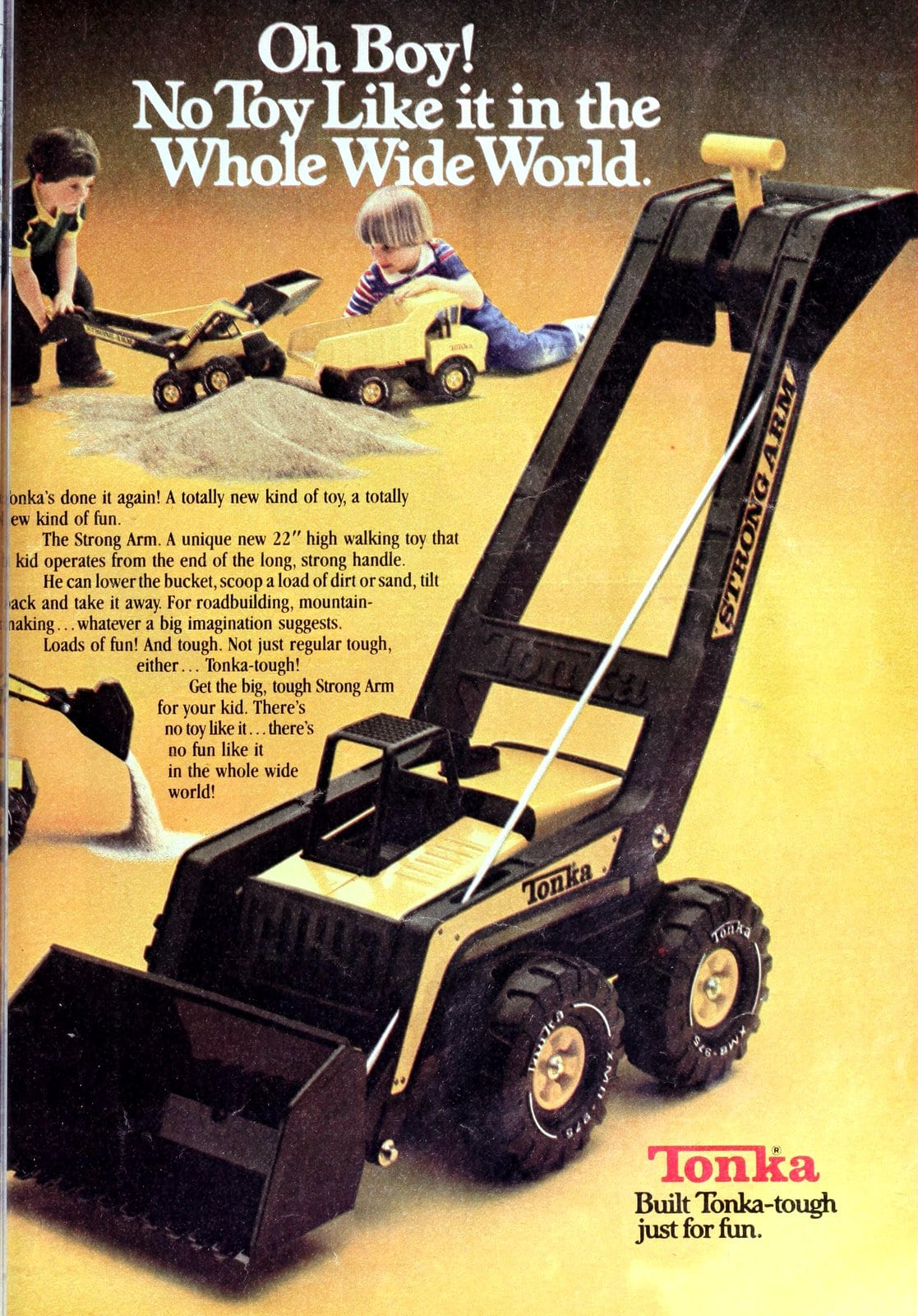 Vintage Tonka Strong Arm construction toy (1979)