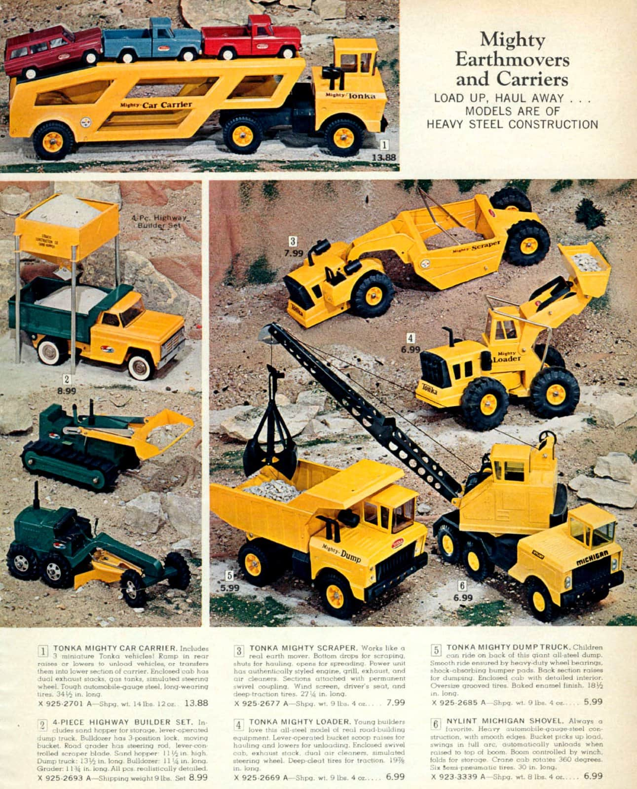 Vintage Tonka truck toys from 1967 (1)