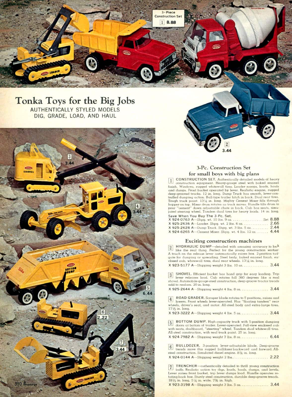 Vintage Tonka truck toys from 1967 (2)