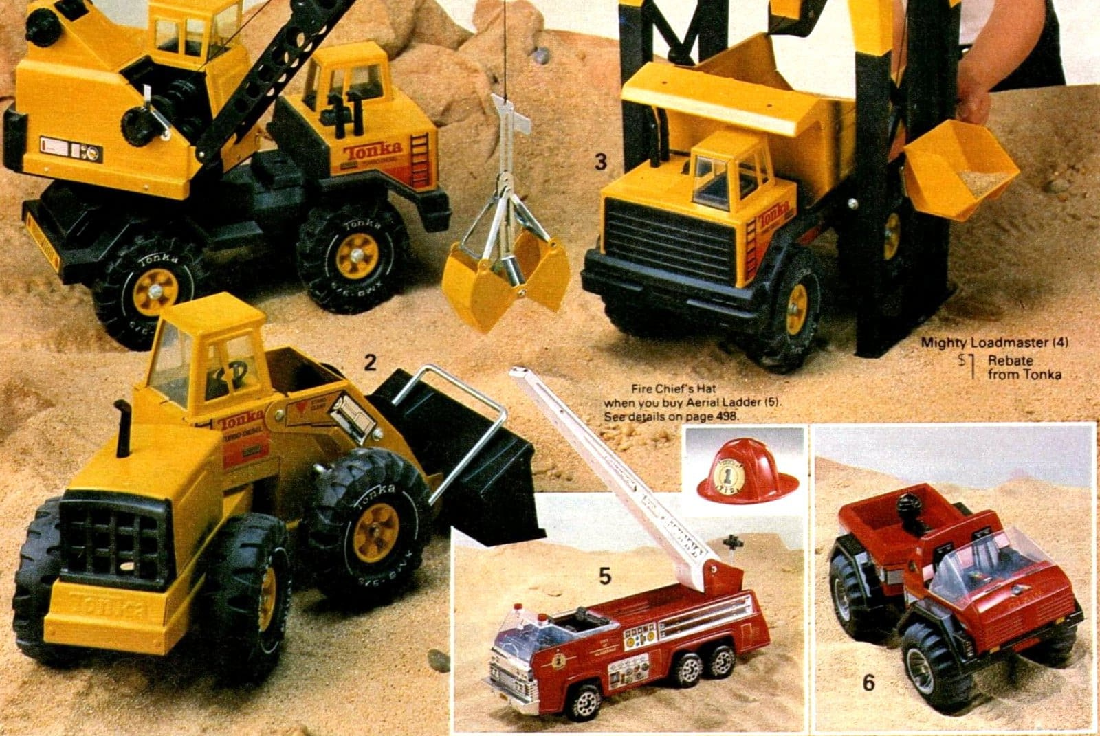 Vintage Tonka truck toys from 1984 (1)