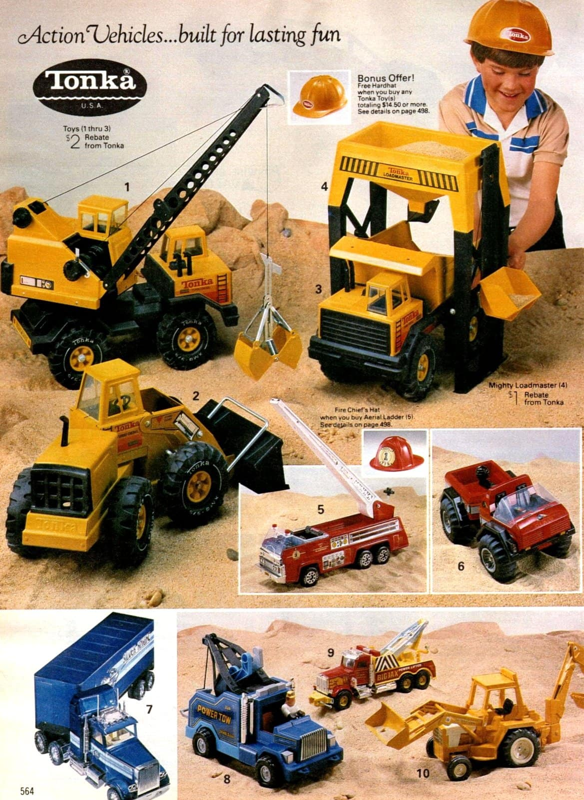 Vintage Tonka truck toys from 1984 (2)