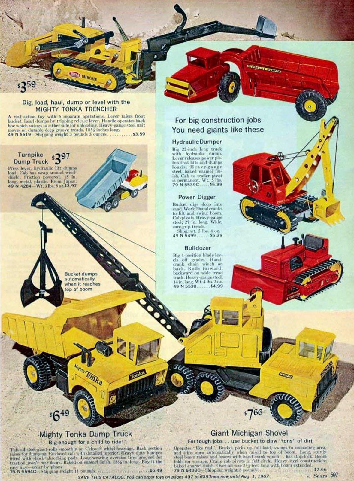 Vintage Tonka trucks (1966)