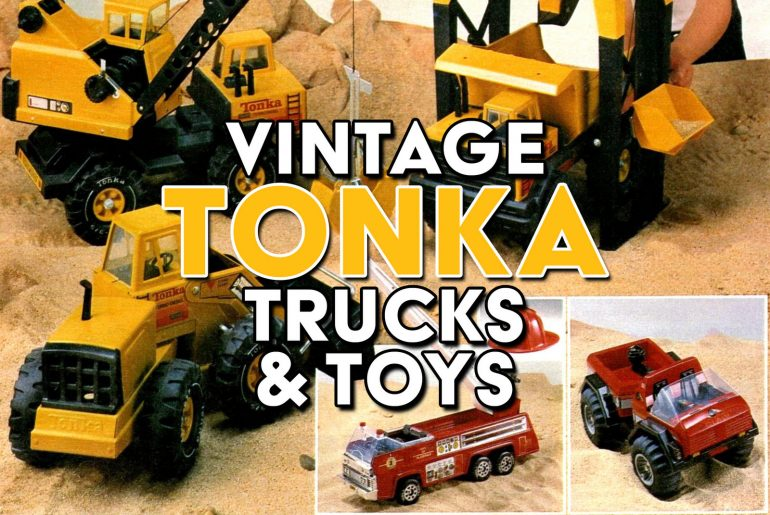 Vintage Tonka trucks and toys