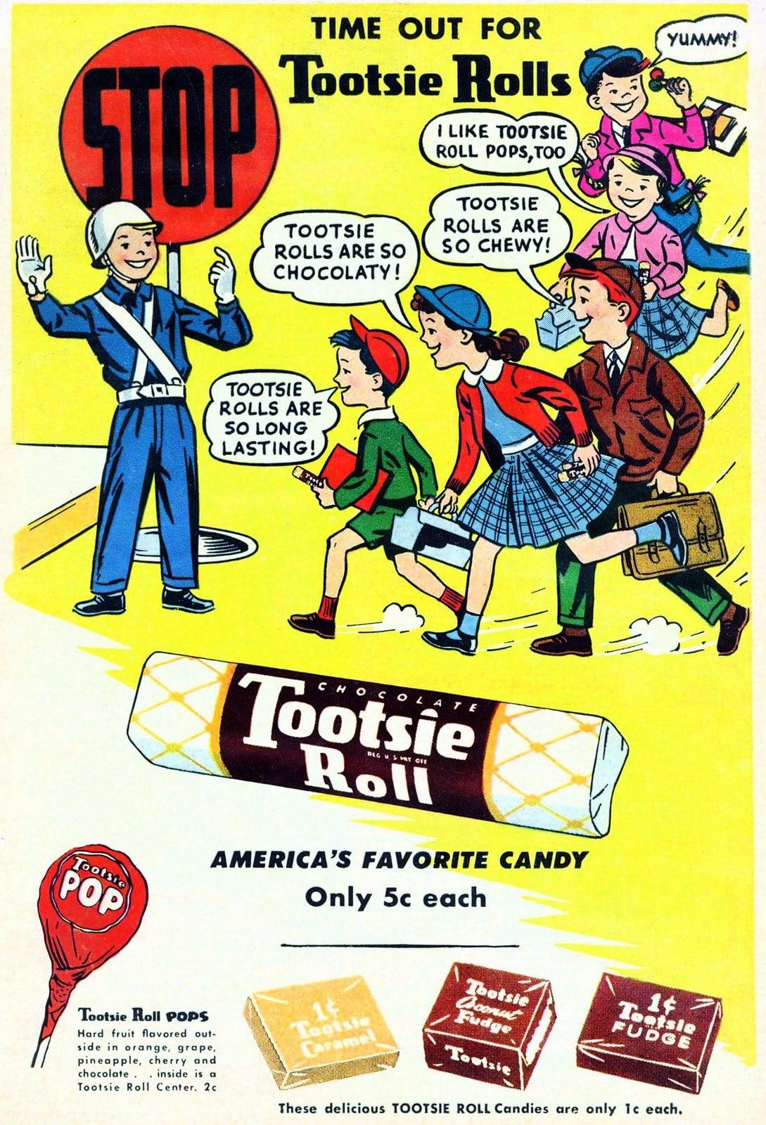 Vintage Tootsie Roll candies (c1960s)