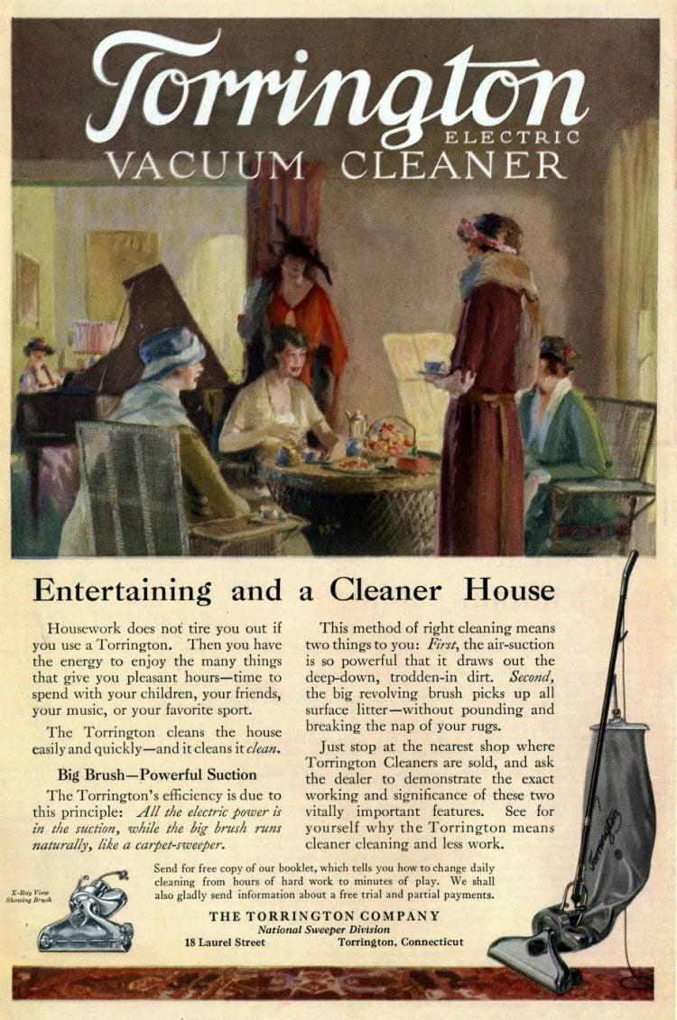 Vintage Torrington vacuum cleaner from the 1920s