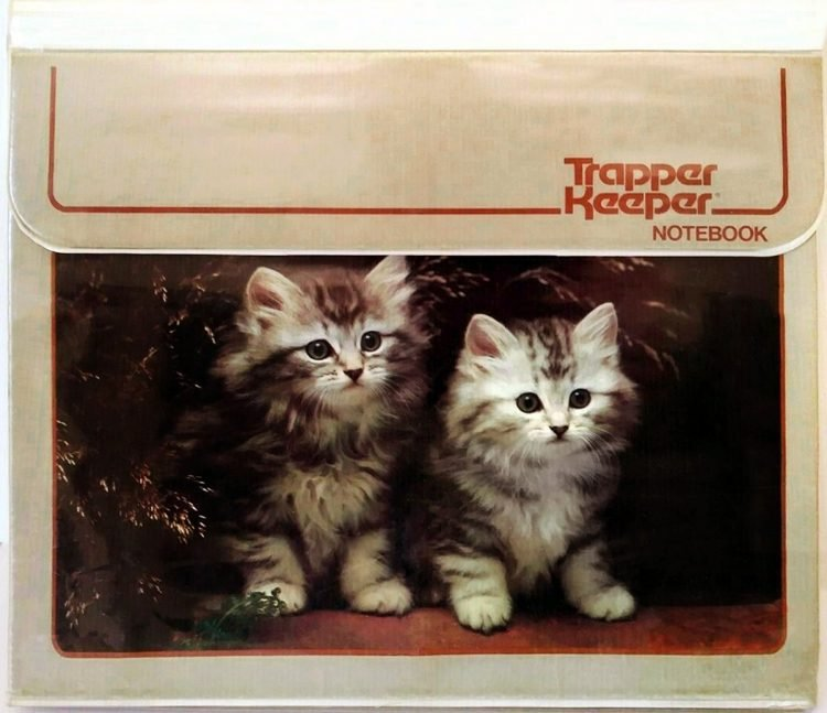 Vintage Trapper Keeper - 80s kittens