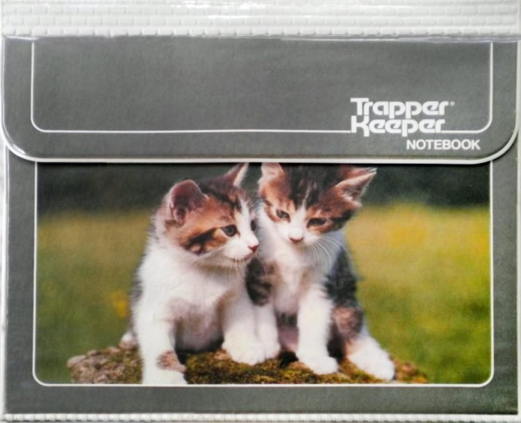 Vintage Trapper Keeper portfolio binder - Kittens