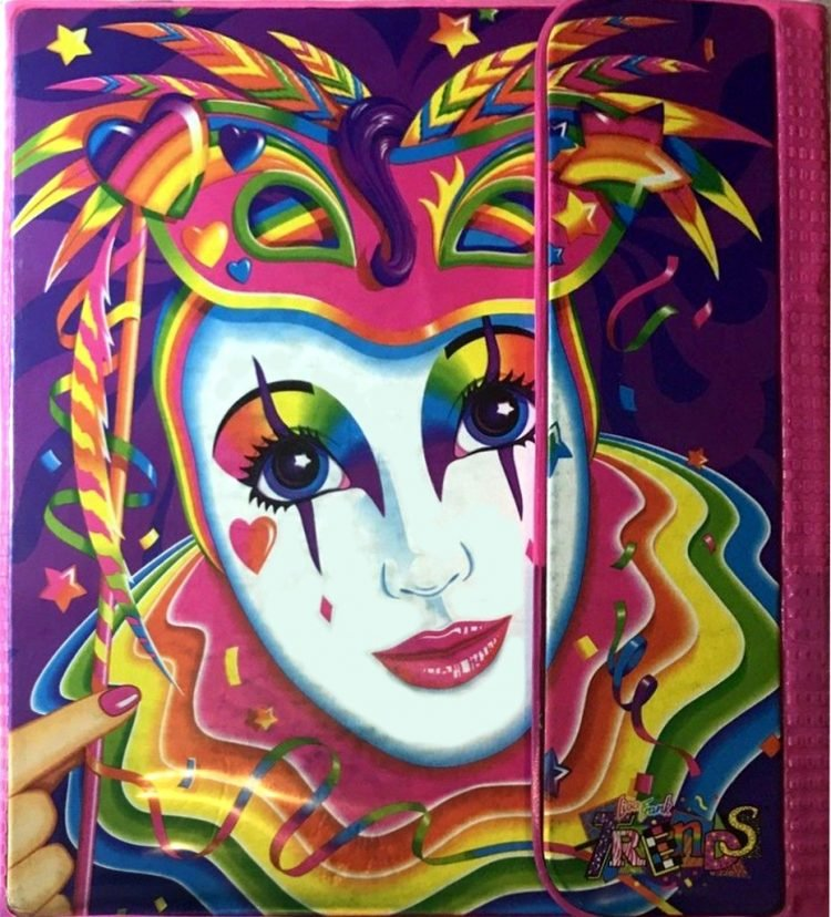 Vintage Trapper Keeper portfolio binder Lisa Frank clown