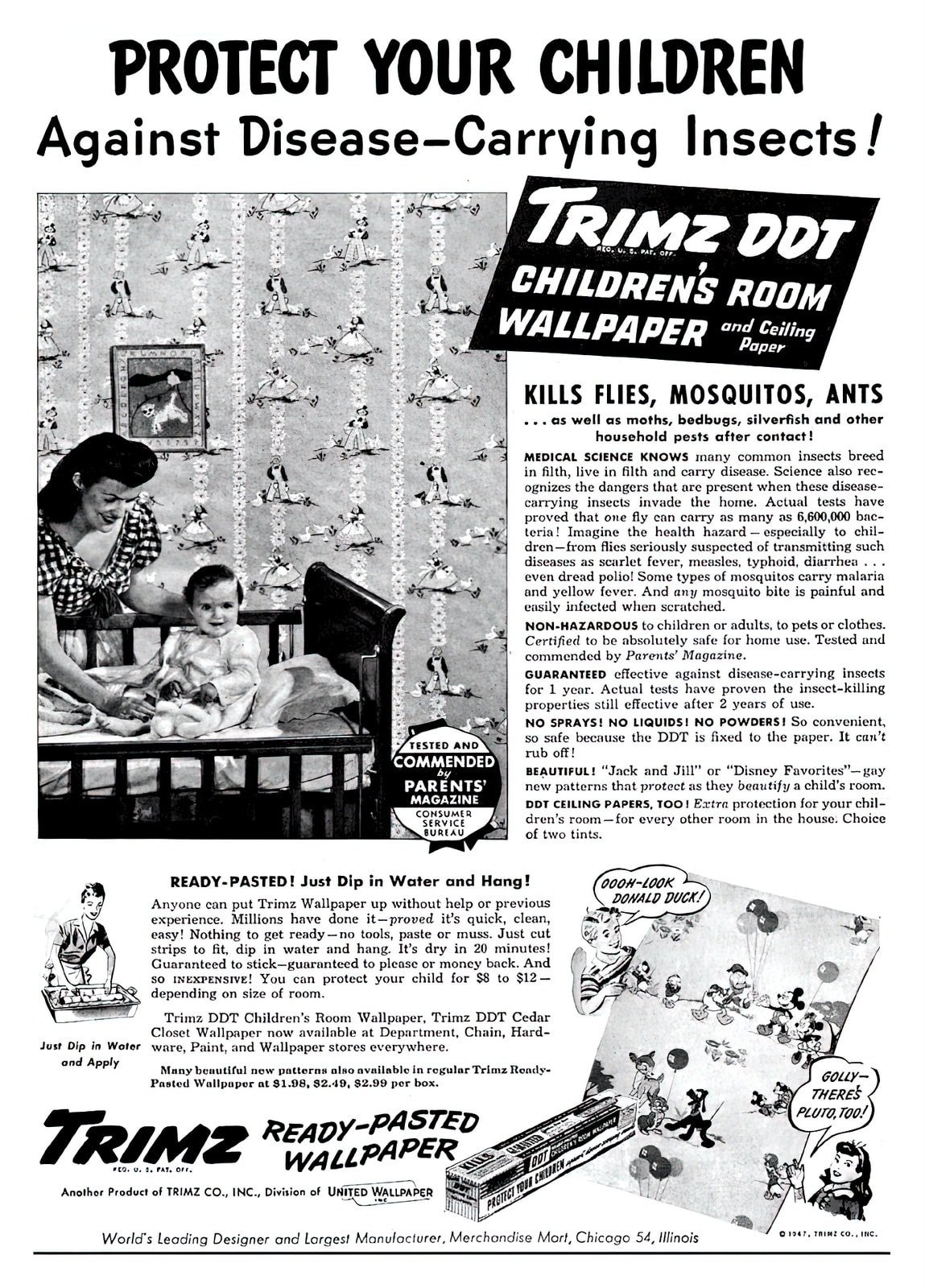 Vintage Trimz DDT wallpaper