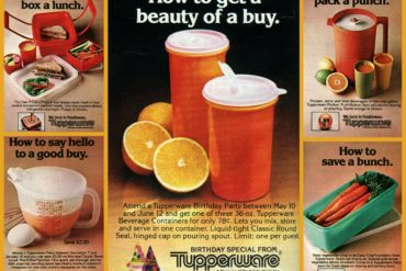 Vintage Tupperware containers from the 80s