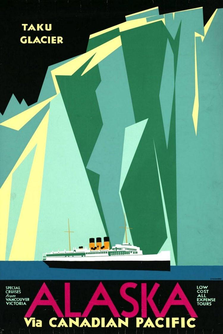 Vintage US travel poster - Alaska
