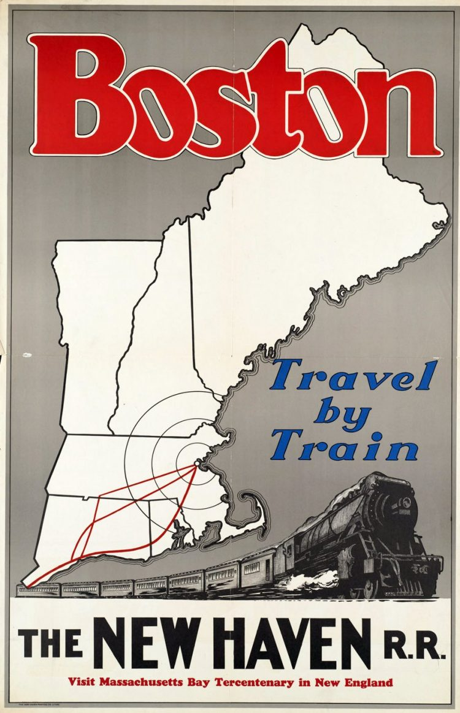 Vintage US travel poster - Boston