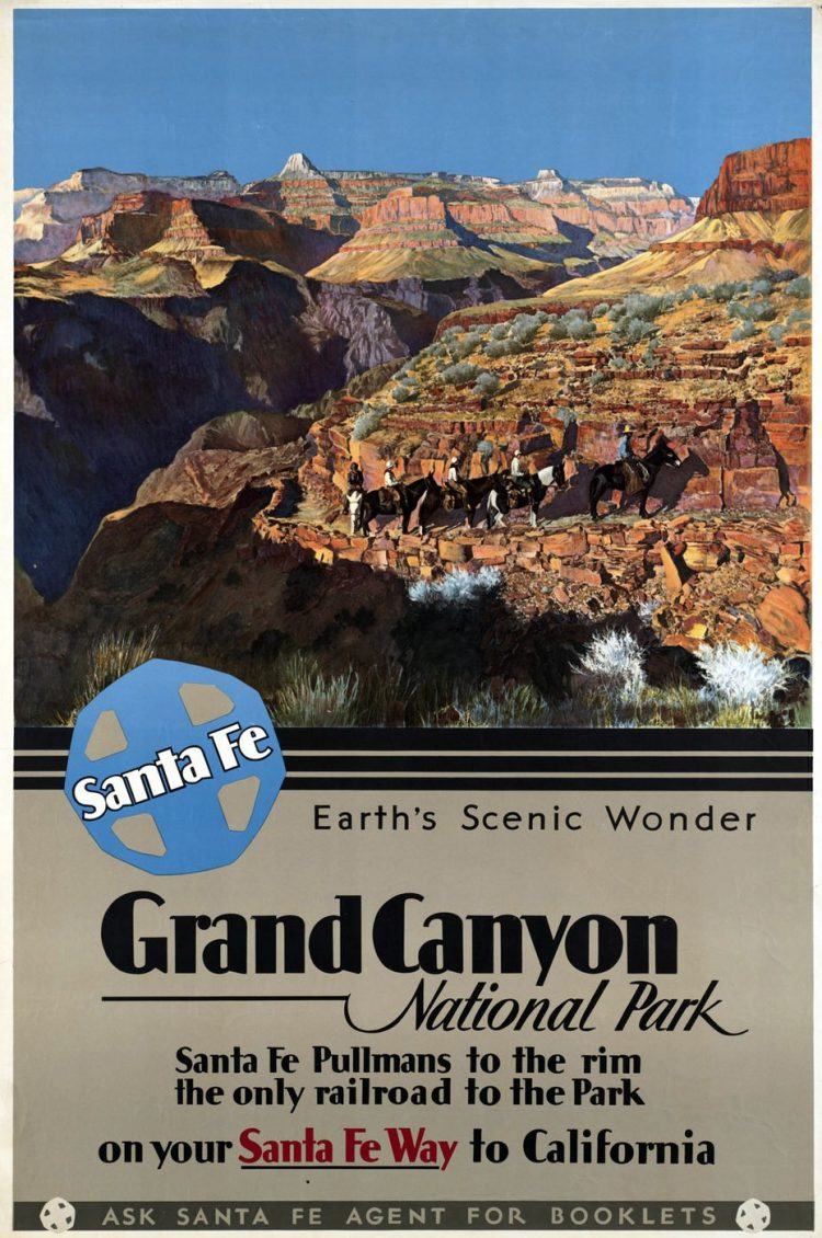 Vintage US travel poster - Grand Canyon