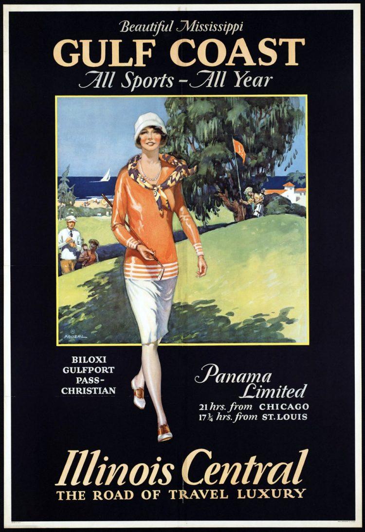 Vintage US travel poster - Mississippi