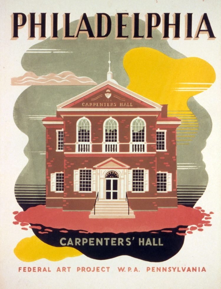 Vintage US travel poster - Philadelpia