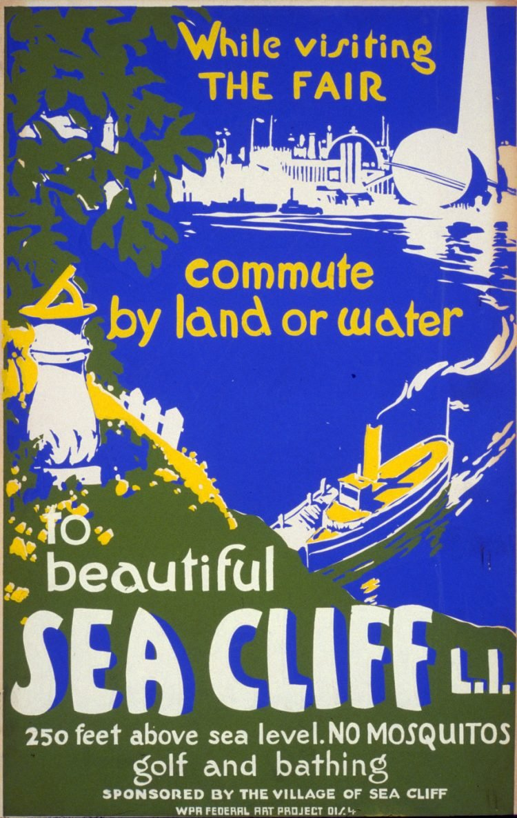 Vintage US travel poster - Sea Cliff