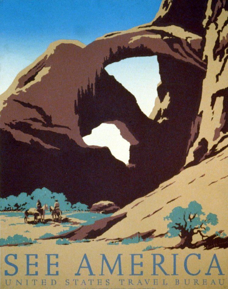 Vintage US travel poster - See America
