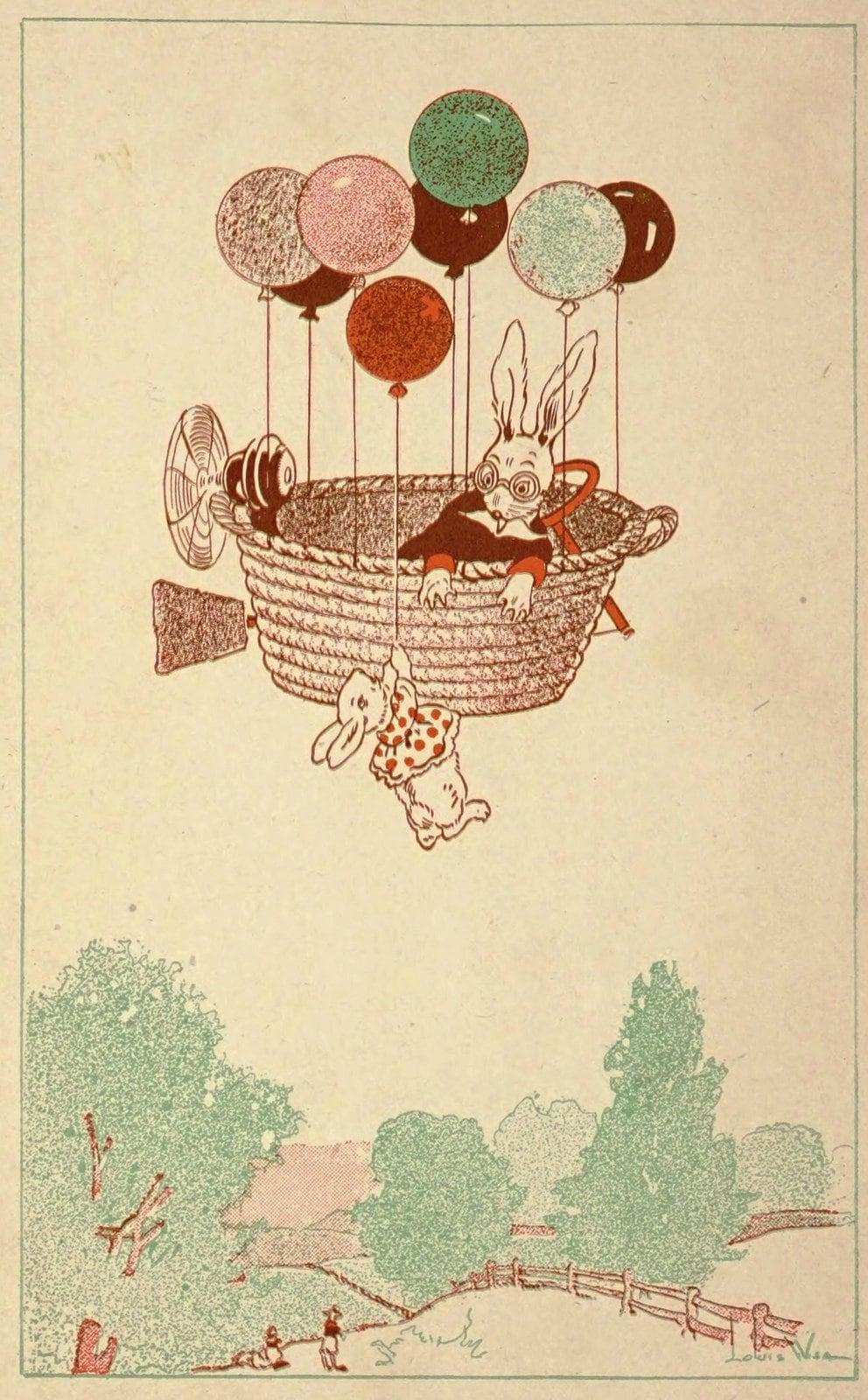 Vintage Uncle Wiggily book illustration