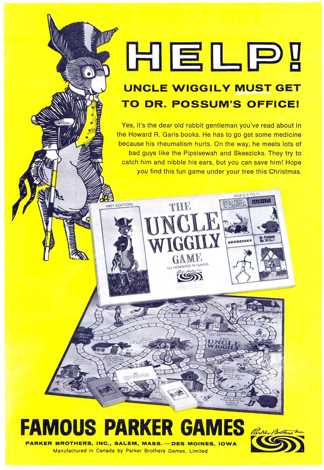 Vintage Uncle Wiggily game from Parker Brothers