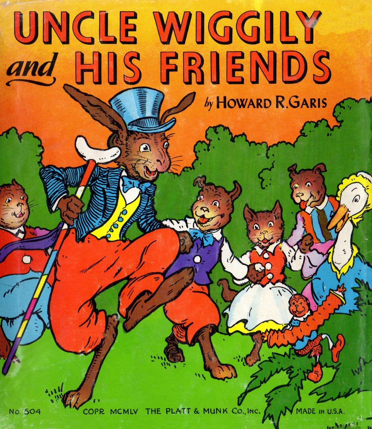 Vintage Uncle Wiggily and His Friends book cover (2)