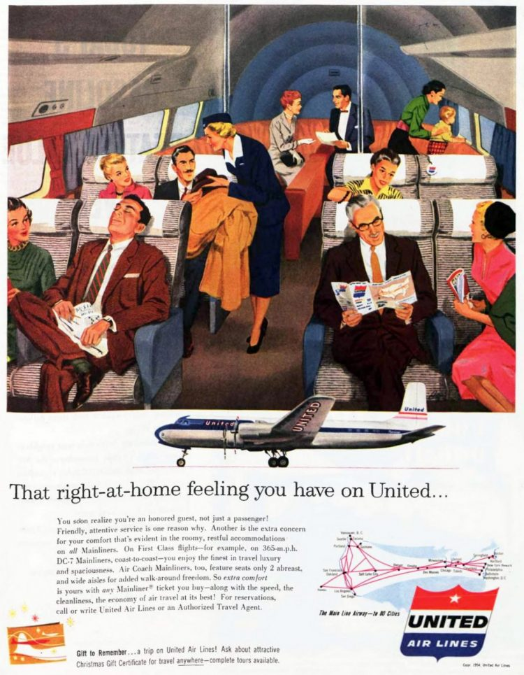 Vintage United Airlines 1954
