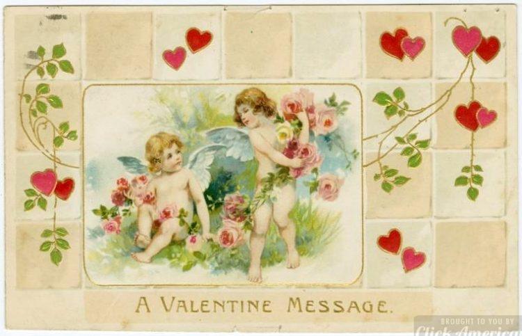 Vintage Valentine's Day cards from around 1900 (12)