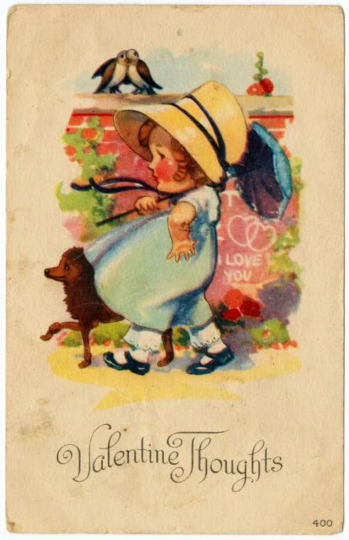 Vintage Valentine's Day cards from around 1900 (16)