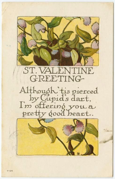 Vintage Valentine's Day cards from around 1900 (4)
